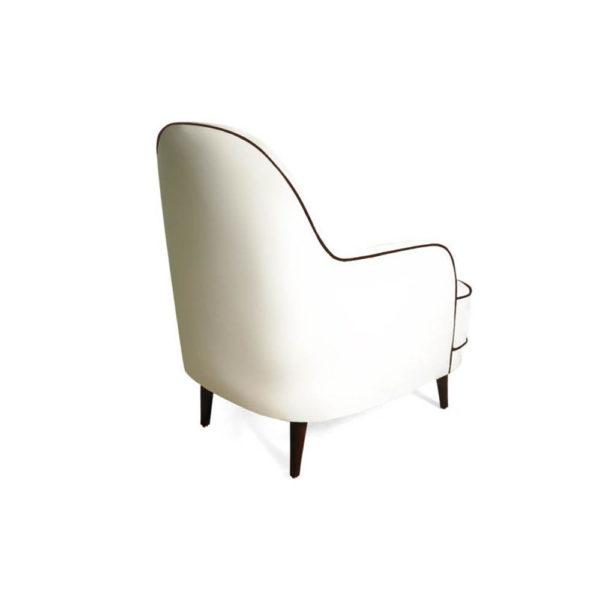 Declan Upholstered Highback Armchair Back