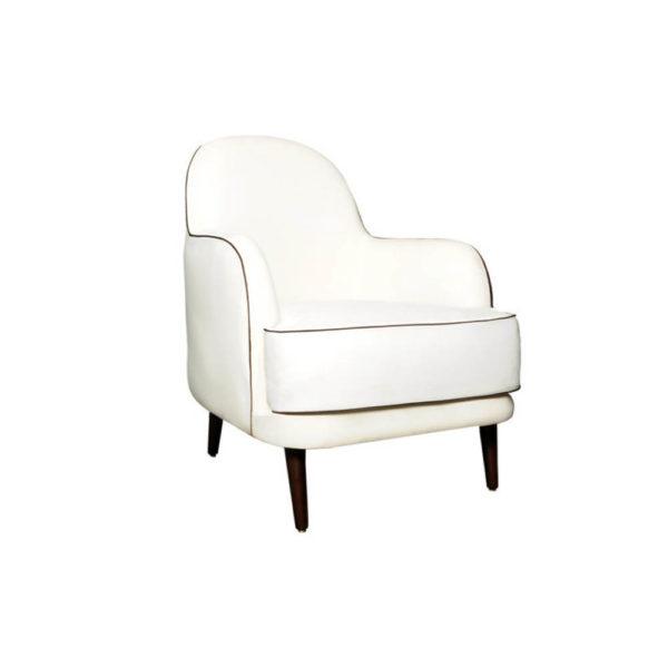 Declan Upholstered Highback Armchair Beside View