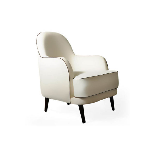 Declan Upholstered Highback Armchair Right Side View