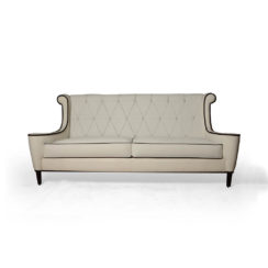 Faith Upholstered Two Seater Rolled Arm Sofa Front View