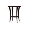 Gael Oval Dark Wood Side Table with Shelf 5
