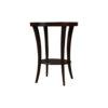 Gael Oval Dark Wood Side Table with Shelf 4