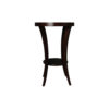 Gael Oval Dark Wood Side Table with Shelf 3