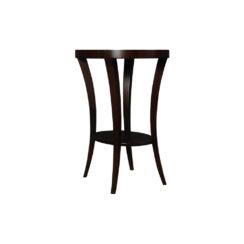 Gael Oval Dark Wood Side Table with Shelf Veneer
