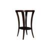 Gael Oval Dark Wood Side Table with Shelf 2