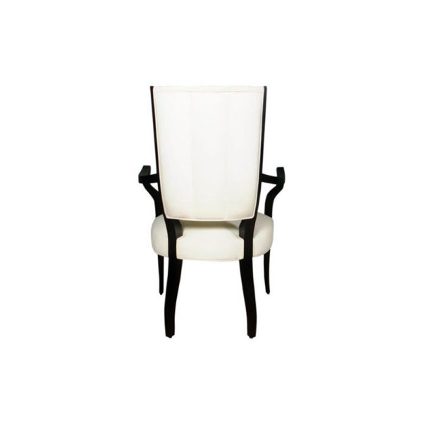 Grace Upholstered High Back Dining Arm Chair Back