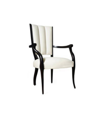 Grace Upholstered High Back Dining Arm Chair Right Side View