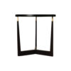 Hector Round Black Side Table with Brass Inlay 2