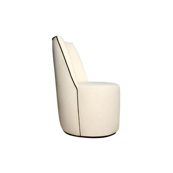 Ivan Round Armless Upholstered Accent Chair Right Side View