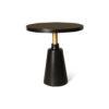 Jett Round Black Beech Side Table 1