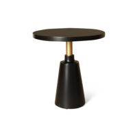 Jett Round Black Beech Side Table