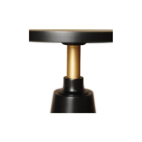 Jett Round Black Beech Side Table Detail