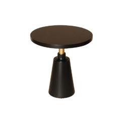 Jett Round Black Beech Side Table Top
