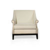 Kingston Upholstered Rolled Arm Chair with Wooden Legs 1