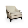 Kingston Upholstered Rolled Arm Chair with Wooden Legs 3
