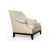 Kingston Upholstered Rolled Arm Chair with Wooden Legs 2