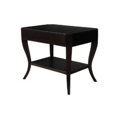 Marco Square Black Side Table UK with Shelf