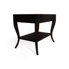 Marco Square Black Side Table UK with Shelf Beside View