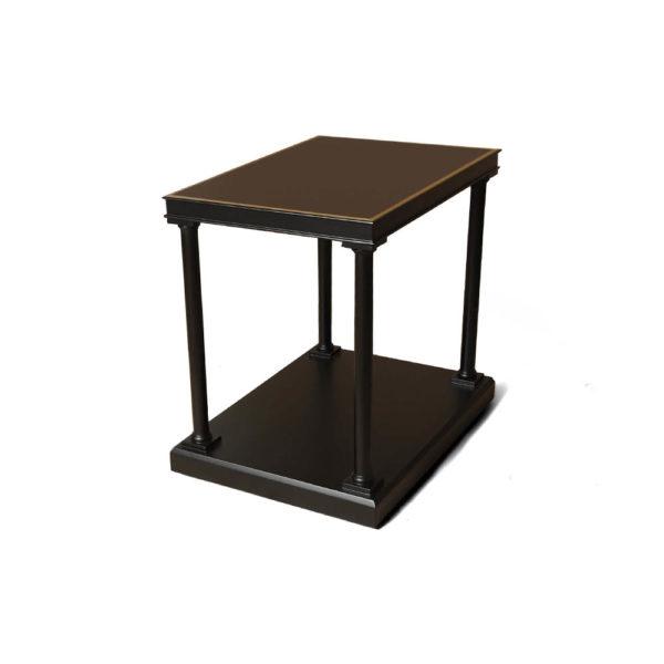Marshal Rectangular Side Table with Shelf