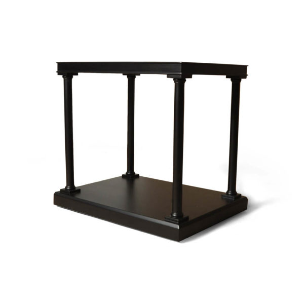 Marshal Rectangular Side Table with Shelf Beside View