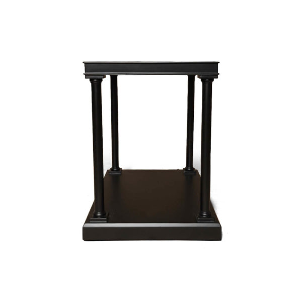 Marshal Rectangular Side Table with Shelf Side View