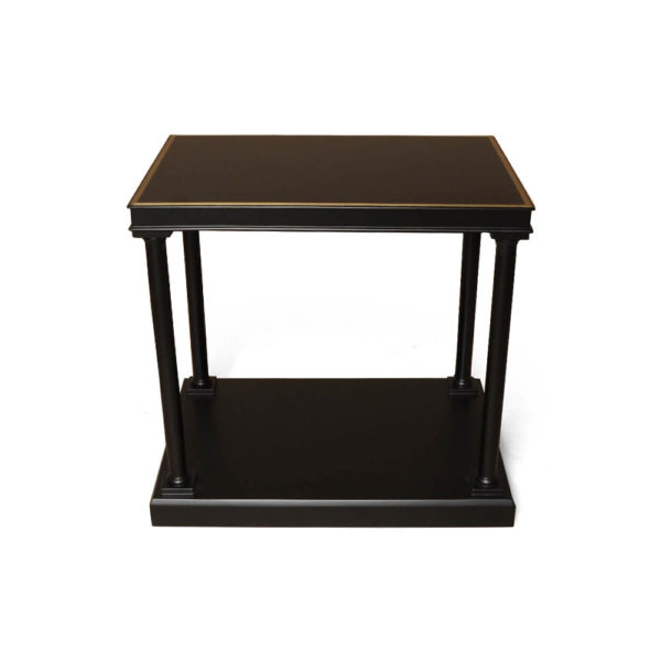 Marshal Rectangular Side Table with Shelf Top View