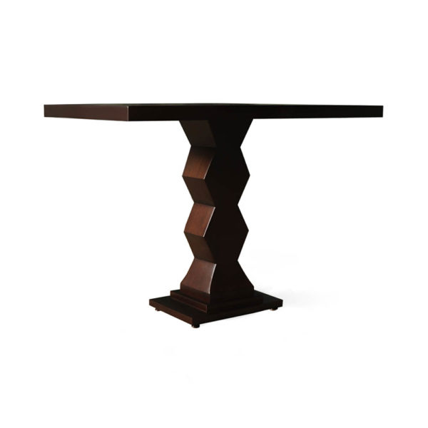 Pyramid Square Small Modern Side Table Beside View