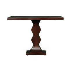 Pyramid Square Small Modern Side Table Front View