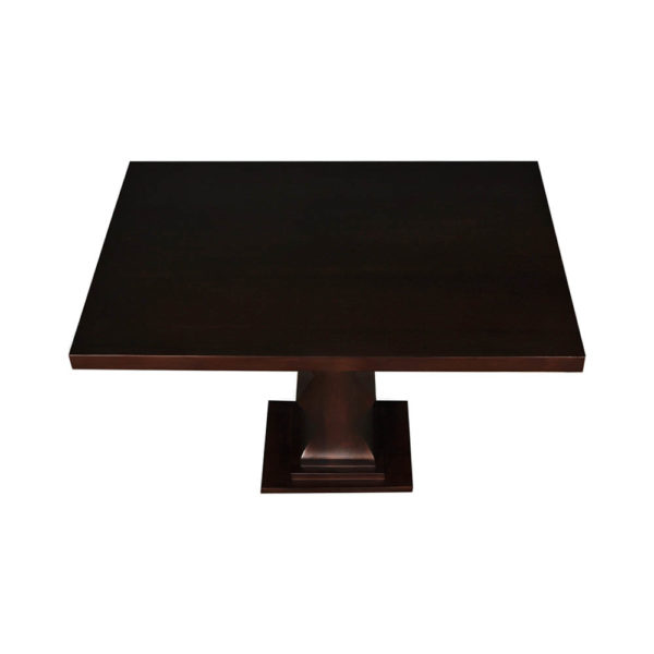 Pyramid Square Small Modern Side Table Top View