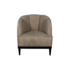 Romans Upholstered Strip Round Armchair 1