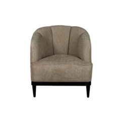 Romans Upholstered Strip Round Armchair