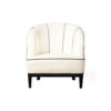 Romans Upholstered Strip Round Armchair 3