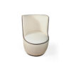 Skylar Upholstered Round Armless Occasional Chair 2