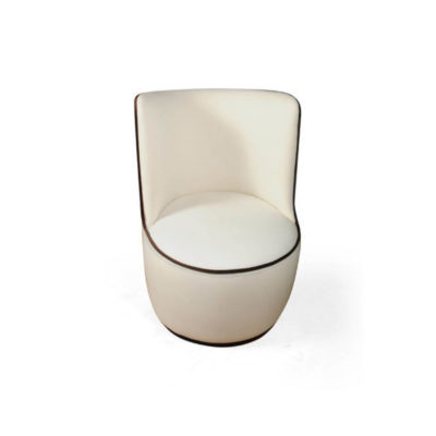 Skylar Upholstered Round Armless Occasional Chair Top
