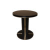 Zion Dark Brown Wooden with Gold Frame Side Table 1