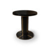 Zion Dark Brown Wooden with Gold Frame Side Table 5