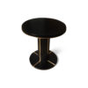 Zion Dark Brown Wooden with Gold Frame Side Table 4