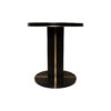 Zion Dark Brown Wooden with Gold Frame Side Table 2