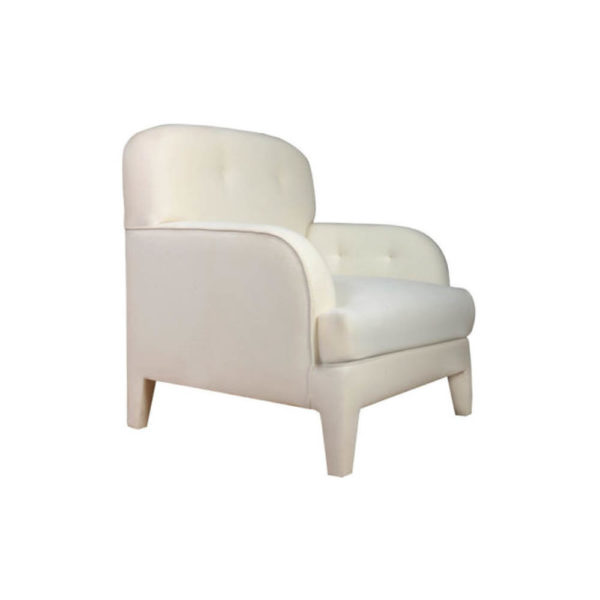 Genaro Upholstered Low Back Armchair Side View