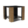 Pharo Square Wood Side Table with Brass Inlay 2