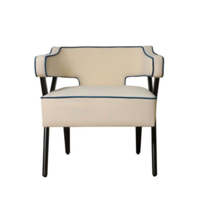 Ruby Upholstered Wingback Armchair with Black Legs