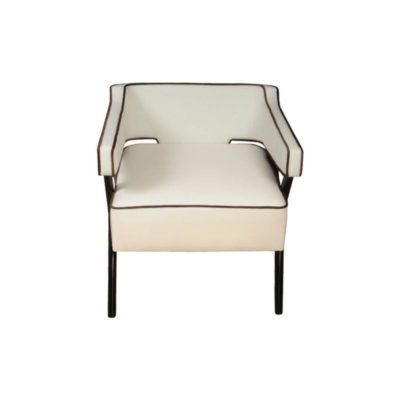 Ruby Upholstered Wingback Armchair with Black Legs Top View
