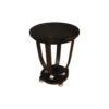 Sally Round Dark Brown Gloss Side Table 1