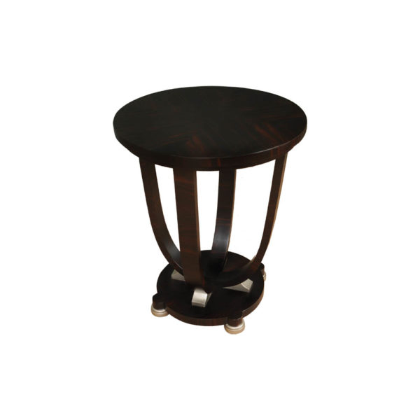 Sally Round Dark Brown Gloss Side Table