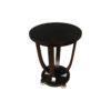Sally Round Dark Brown Gloss Side Table 2