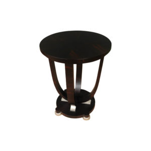 Sally Round Dark Brown Gloss Side Table Top View