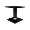 Scena Square Small Dark Wood Side Table 1