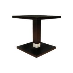 Scena Square Small Dark Wood Side Table