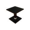 Scena Square Small Dark Wood Side Table 2