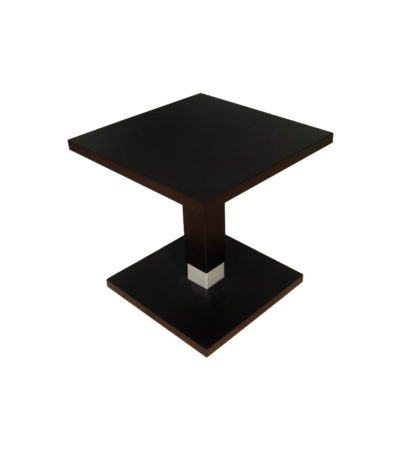 Scena Square Small Dark Wood Side Table Beside View